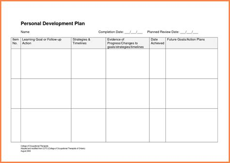 Development Progress Report Template