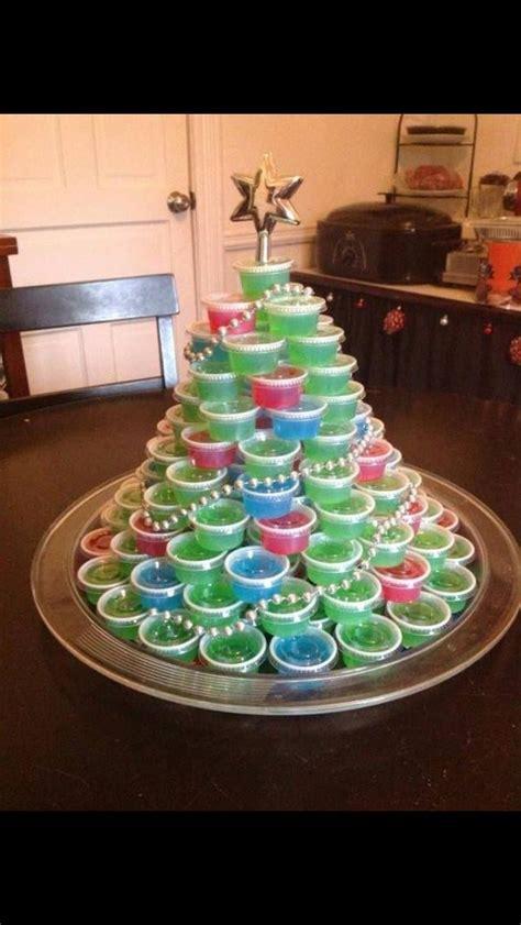 jello shot tree christmas ideas pinterest