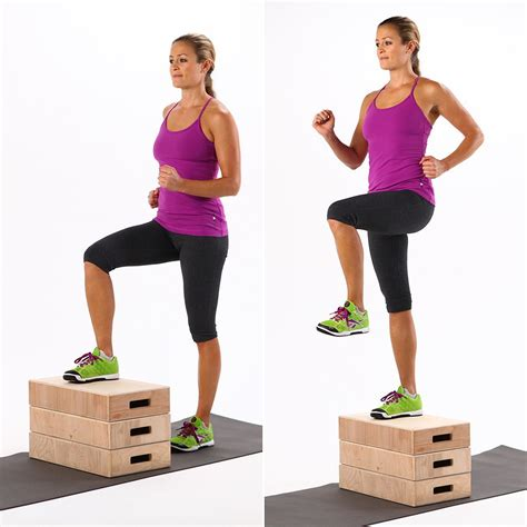 step up filmzenék how to do step ups popsugar fitness