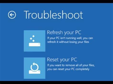 windows   key  advance options   reload