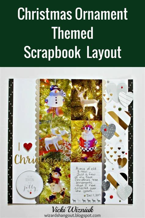 Christmas Themed Scrapbook Layout   christmas ornament themed scrapbook layout designed by