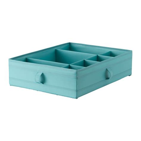 skubb ikea skubb box with compartments light blue ikea