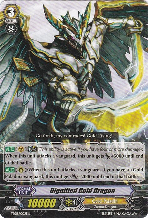 Rummy In The Deck by Dignified Gold Dragon Cardfight Vanguard Wiki Fandom