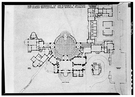 lynnewood hall first floor plan architectural floor mar a lago home of marjory merriweather post and now