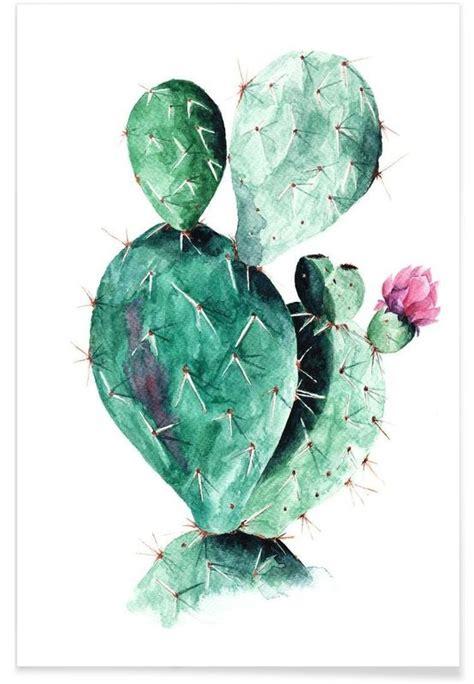 Unique Kaktus cactus as premium poster by annet weelink design juniqe uk