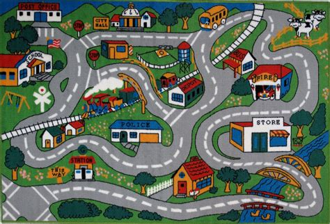rug with roads 7 best images of printable roads for cars car