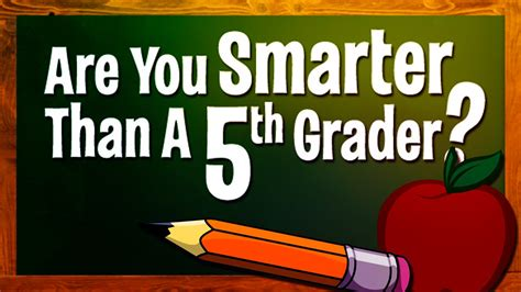 Are You Smarter Than A 5th Grader Quot Hard Difficulty Are You Smarter Than A 5th Grader Template