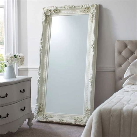 carved floor standing mirror by primrose plum