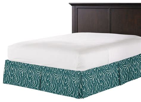 teal bed skirt teal animal print bed skirt pleated contemporary