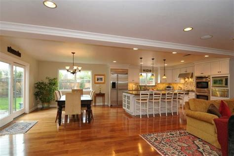 large kitchen dining room ideas open floor plan kitchen family room dining room google
