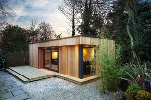 wooden garden room green roof garden room designs