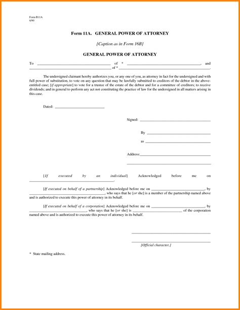 free general power of attorney template 9 power of attorney form pdf free ledger paper