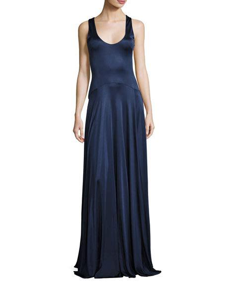 Leora Slit zac posen split cap sleeve mermaid gown tangerine