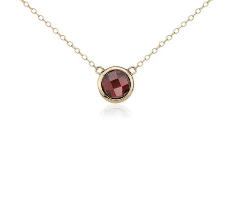 14k Gold Garnet Necklace garnet solitaire necklace in 14k yellow gold 8mm blue nile