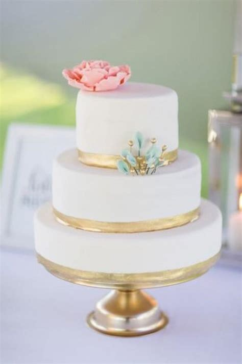 Mint Wedding   Pink Mint And Gold Wedding Cake #2179327
