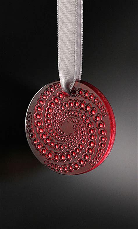 lalique etoile filante holiday ornament red 2012