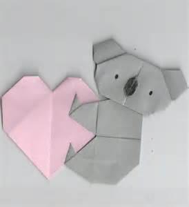 Koala Origami - pin origami koala on