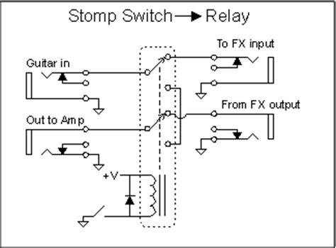pedal stomp dpdt switch wiring diagram get free image