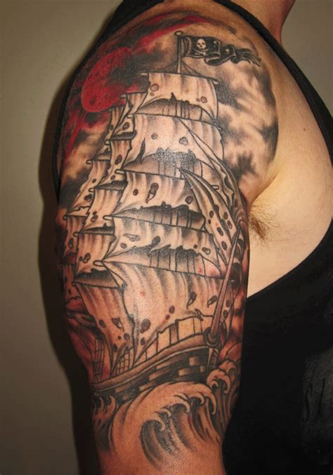 mark lonsdale tattoo bondi sydney ghost pirate ship1
