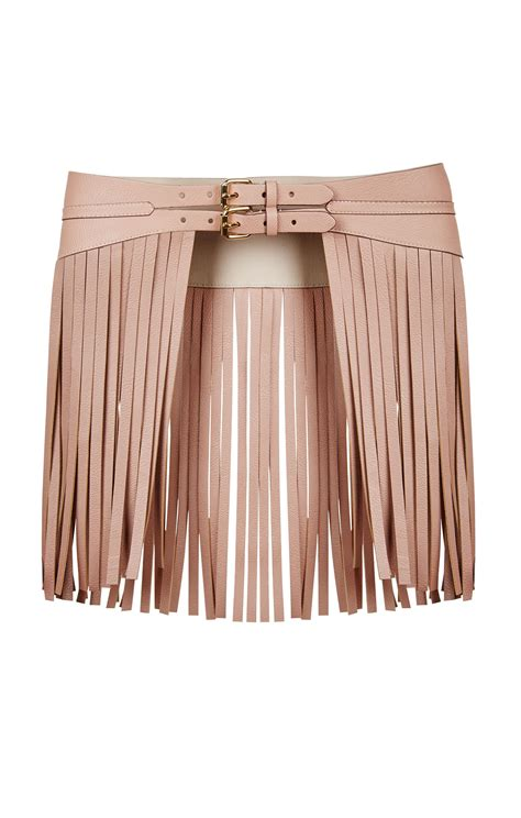 fringe contour waist belt