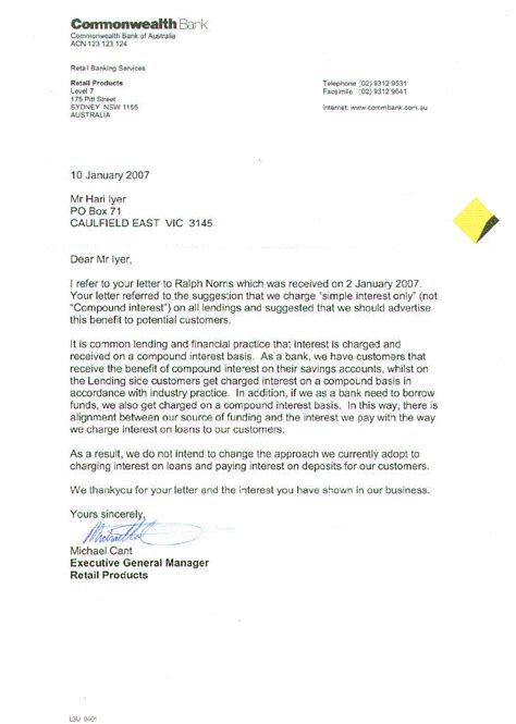 Bank Error Letter To Customer same day loans commonwealth bank cooking with the pros