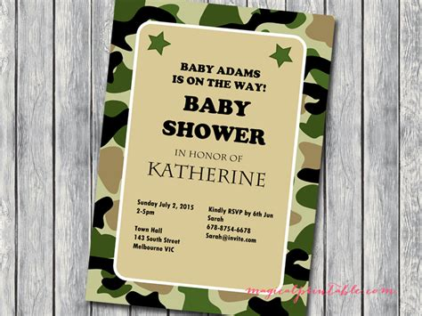 Army Baby Shower Theme by Army Baby Shower Birthday Invitations Baby