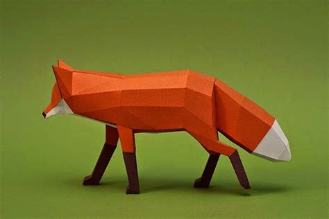Paper Craft Animals - papercraft animal figurines 11 fubiz media