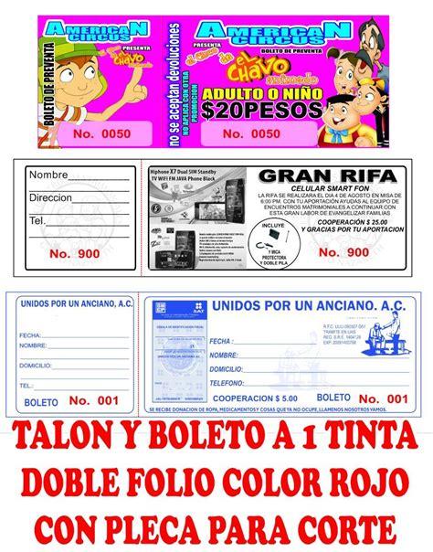 descargar formatos para crear boletos rifa gratis 1000 boletos para rifa o eventos a 1 tinta 550 00 en