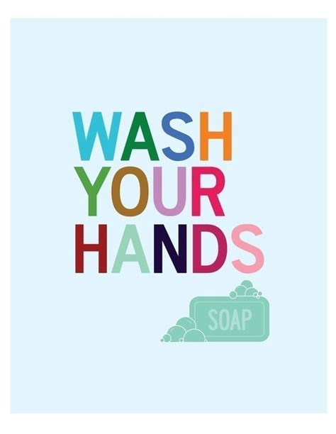 kids bathroom signs items similar to wash your hands bathroom wall art print