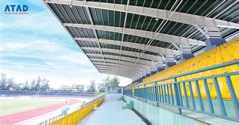 covering    tribune   tho stadium atad