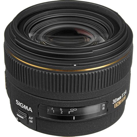 Sigma Lens For Canon sigma 30mm f 1 4 ex dc hsm autofocus lens for canon 300101 b h
