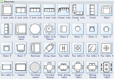 architectural symbols for floor plans floor plan design software