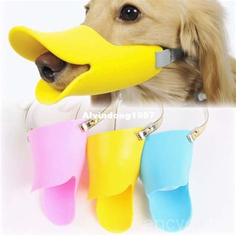 cute dog products novelty cute duckbilled dog muzzle bark bite stop for