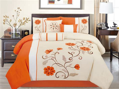 28 best orange comforter sets king orange egyptian