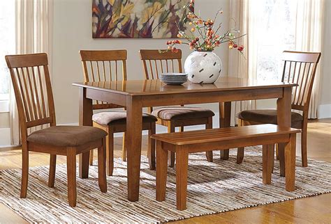 ashley furniture dining table with bench best buy furniture and mattress berringer rectangular