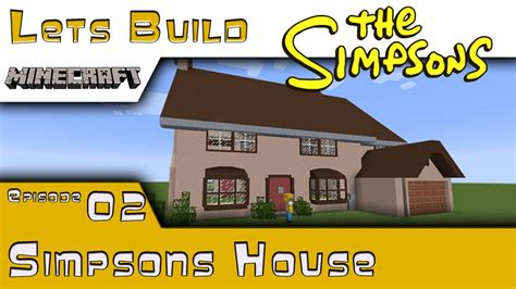 how do i build this minecraft springfield lets build simpsons house
