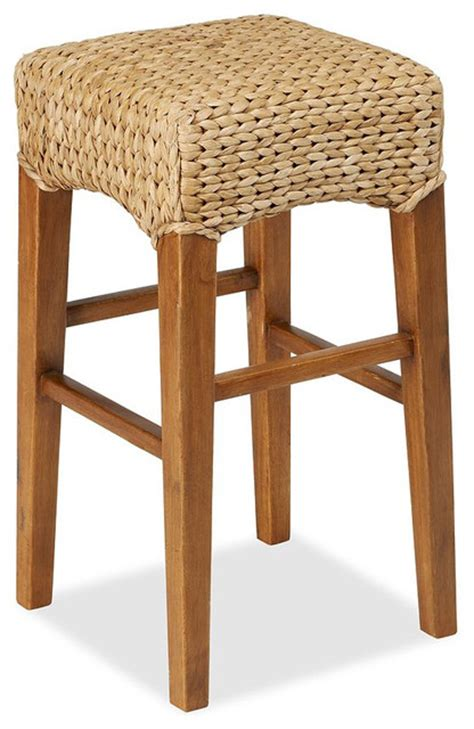 pottery barn seagrass bar stool seagrass backless barstool contemporary bar stools and
