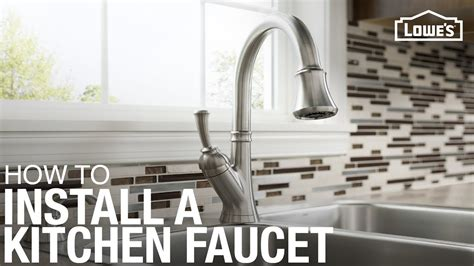 how to install a kitchen faucet with pull sprayer