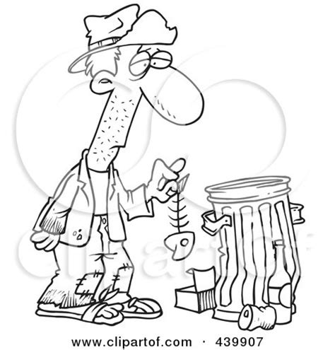 homeless person coloring page royalty free rf homeless man clipart illustrations