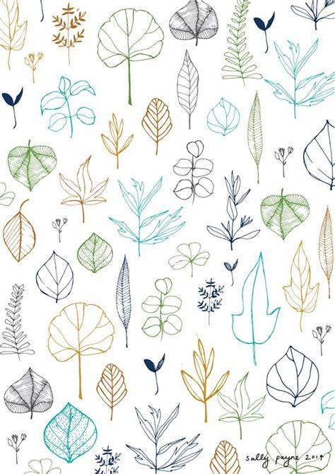 leaves pattern drawing leafpattern sallypayne pattern inspiration pinterest