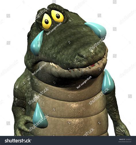 A Funny One Cartoon Crocodile, That Cries Crocodile Tears ...