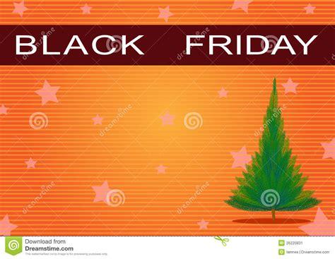 black friday xmas lites black friday banner and tree on orange b stock illustration image 26220831