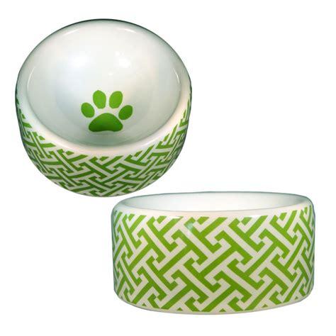 designer dog bowls trellis green dog bowl designer dog boutique at
