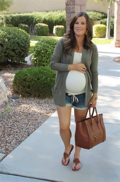 green tank and flipflops blue denim jean shorts 6 30 a casual cardigan outfit inspo
