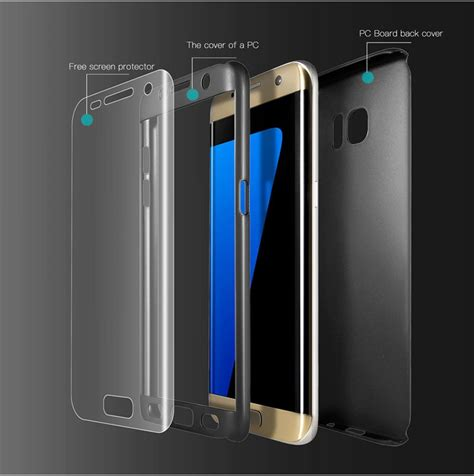 Hardcase Samsung Galaxy S7 Edge Hardcase 360 Lar 360 176 soft hd screen protector pc front back cover for samsung galaxy s7 edge