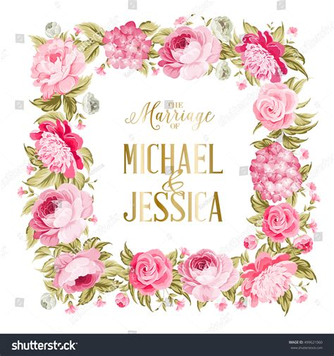 Wedding Border Clipart Vector Templates by Wedding Invitation Template Border Flowers Stock