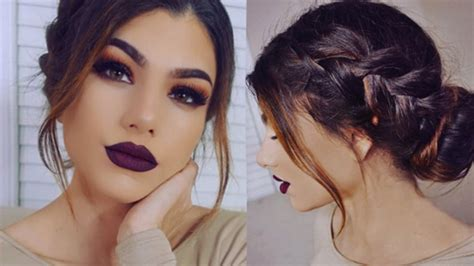hairstyles and makeup tutorials full coverage dark makeup tutorial romantic braid bun