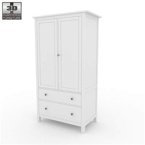 Hemnes Armoire by Hemnes Wardrobe 3d Model Hum3d