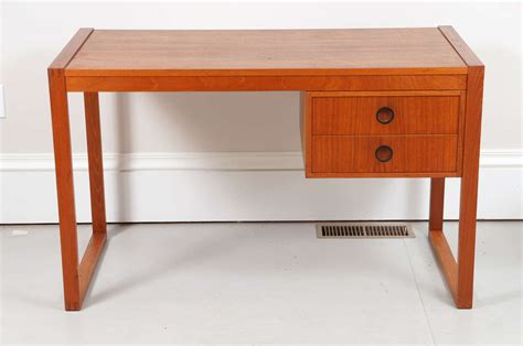 desk with drawers on left side danish writing desk with left or right side drawers at 1stdibs