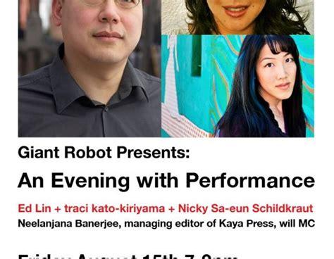 traci kato kiriyama giant robot presents an evening with ed lin traci kato